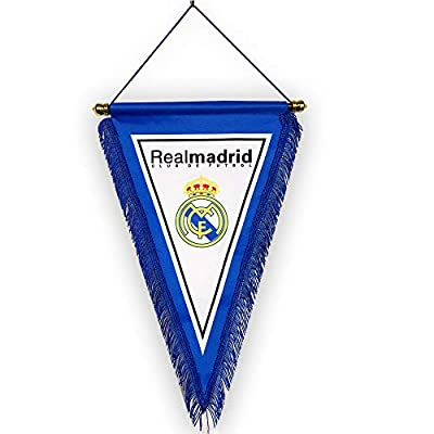 aiycome Football Club Indoor and Outdoor Pennant Double Side Printing Flags Vivid Color Hanging Flags for Decoration/Souvenir/Gift (Real Madrid)
