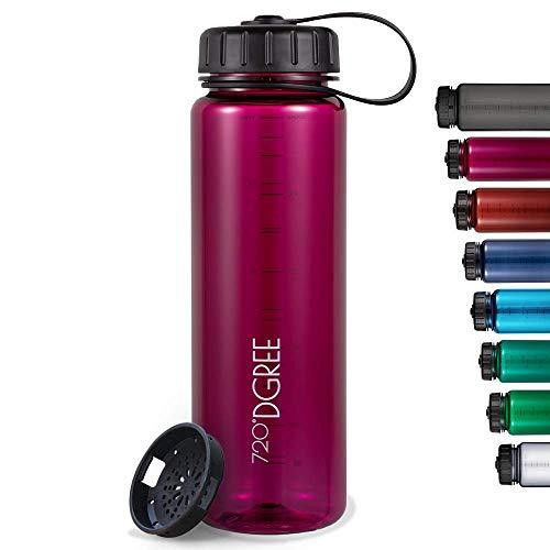 """720°DGREE Trinkflasche """"simplBottle"""" - 500ml - Deine Auslaufsichere Wasserflasche - Die Sportflasche für Sport, Gym, Fitness, Fahrrad, Kinder, Schule & Büro - BPA-Frei"""