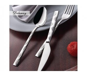 Olinda 20-Piece Sand Blasted 18/10 Stainless Steel Rust-Free Flatware Set (Service for 4), DOLUNAY