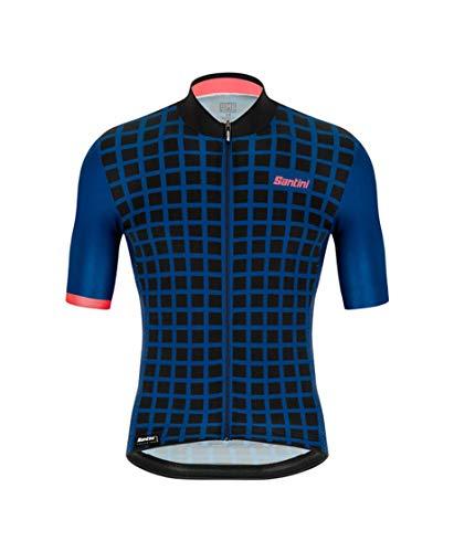 Santini Fahrradbekleidung für Herren, Mito-Trikot (L, Weltraumblau)