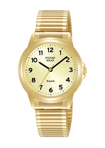 PULSAR Analoge Quartz Horloge met Gouden Toon RVS Band PY5078X1