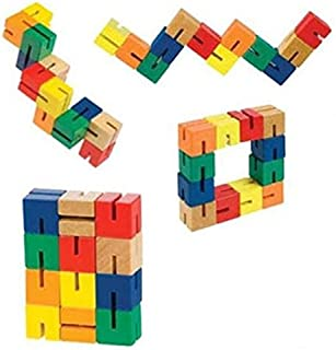 Wood Fidget Puzzle Shape Shifter Brain Teaser 12 Blocks Toysmith