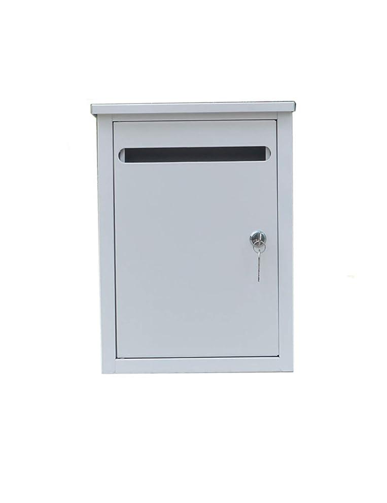 恐怖症飽和するしばしばJIAJIA 壁に取り付けられたレターボックス屋外の雨が降らない錆のホームメールボックスホワイト メールボックス