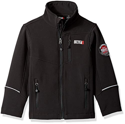 32 DEGREES Weatherproof Weatherproof Little Boys Outerwear Jacket (More Styles Available), Zip Pockets Black, 4
