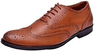 HiREL'S Men Tan Oxford Brogue Formal Shoes