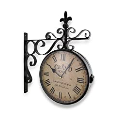 Things2Die4 Grand Hotel Paris Double Sided Wall Mounted Clock