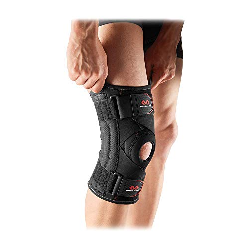 Mcdavid Knee Brace Support & Compression Knee Sleeve w/ Side Stays & Cross Straps for Knee Stability, Patellar Tendon Support, Tendonitis Pain Relief, Recovery & Prevention from Moderate Injuries