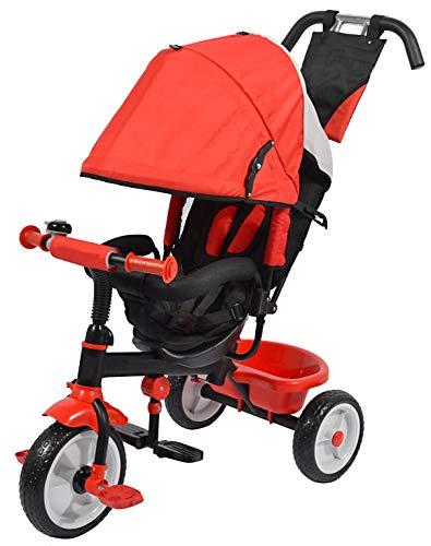 giordanoshop Passeggino Triciclo per Bambini Kids Joy Sprint Rosso
