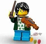 Lego® 71029 Minifiguren Serie 21 Figur Nr 2 Junger Geiger zusätzlich 1 x Sticker-und-co Fruchtmix Bonbon