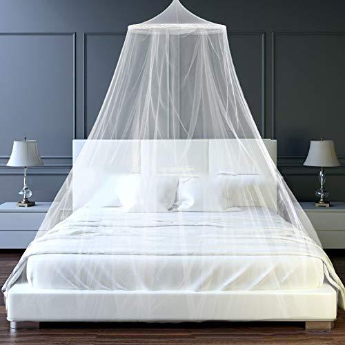 Weiß Mückennetz Kinder,mosquito net,Prinzessin Mädchen Moskitonetz aus,Moskitonetz Für Einzel,Abweisendes Netz,Betthimmel,Moskitonetz Bett Reise,Schlafzimmer Dekoration