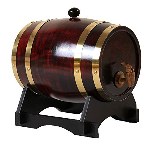 LMZJLU Barril De Vino Barril De Vino De Roble Barril De Cerveza De Madera De Roble Mini Barril De Vino Doméstico Personalizado para Almacenamiento o Envejecimiento Vino y Licores Barriles De Vino SOP