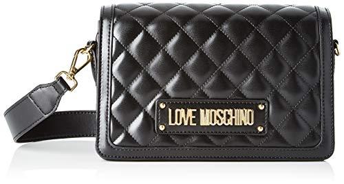 Love Moschino Unisex-Erwachsene Jc4002pp18la0000 Kuriertasche, Schwarz (Nero), 14x8x23 centimeters