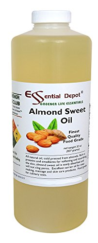 Why Should You Buy Almond Sweet Oil - 1 Quart - 32 oz - Safety Sealed HDPE Container with resealable...
