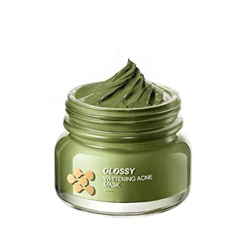 Oyria Cubierta Facial de Barro de judías Verdes Crema de Barro de Limpieza Profunda Eliminación de espinillas Reducción de los poros Pasta de Frijoles Mungo para Limpieza Facial y Corporal Relajante