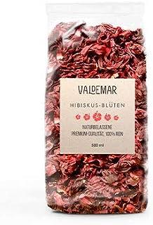 Valdemar Manufaktur essbare Premium HIBISKUS-Blüten, 500ml Rosella - HANDVERPACKT In Deutschland