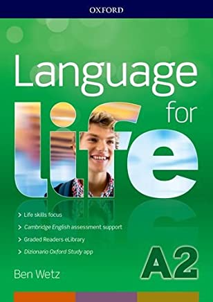 Language for life A2. Super premium.Students book wb with CD with obk with study app with 16 eread with 1 key online test [Lingua inglese]