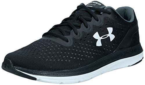 Under Armour Men's Charged Impulse Running Shoe, Black (002)/White, 10