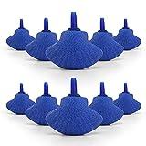 Nobleza - 12 x difusor de Burbujas de Piedra de Aire en Forma de Concha para Tanque de Peces de Acuario Bomba de Aire Azul 4.7 * W3.3CM