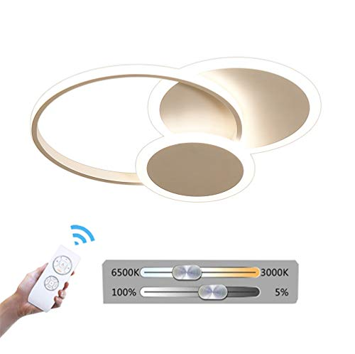 HIL plafondlamp van aluminium, modern en minimalistisch led, plafondlamp, ring, wit, kinderkamer, woonkamer, slaapkamer, acryl, dimbaar
