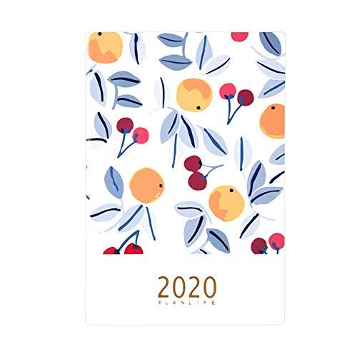 Mobra Agenda 2020, 1 Tag pro Seite, A5, Leder Fruit motif