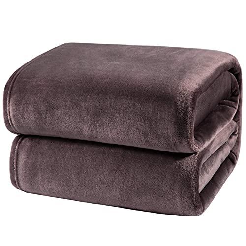 BEDSURE Kuscheldecke Taupe XXL Decke Sofa, weiche& warme Fleecedecke als Sofadecke/Couchdecke, kuschel Wohndecken Kuscheldecken, 220x240 cm extra flaushig und plüsch Sofaüberwurf Decke