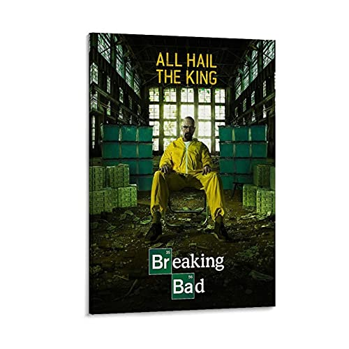 HJSF Breaking Bad Season 5 - Póster decorativo de cuadro en lienzo (60 x 90 cm)