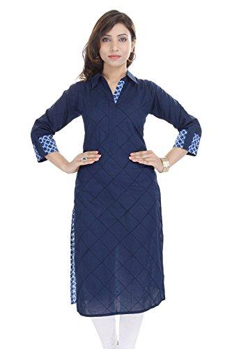 Indian Women's Plain Cotton Kurti N…