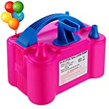 PCFING Electric Air Balloon Pump and Balloon Tying Tool in One, Portable Dual Nozzle Electric Balloon Blower Air Pump Balloons Inflator with Tying Tool on Pump for Decoration, Party and Save Time