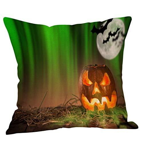 Halloween Kissenbezug Kürbis Baumwolle Leinen Überwurf Kissenbezug Home Sofa Dekor