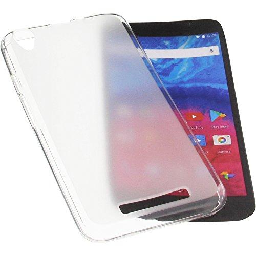 foto-kontor Tasche für Archos Core 55 Gummi TPU Schutz Handytasche transparent weiß
