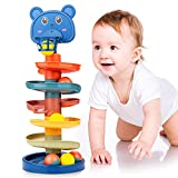 Beestech Ball Tower for Toddlers, Ball Drop and Roll Tower, Educational Development Toys for 2, 3, 4 Years Old Boys, Girls, Toddler Activities with 6 Balls