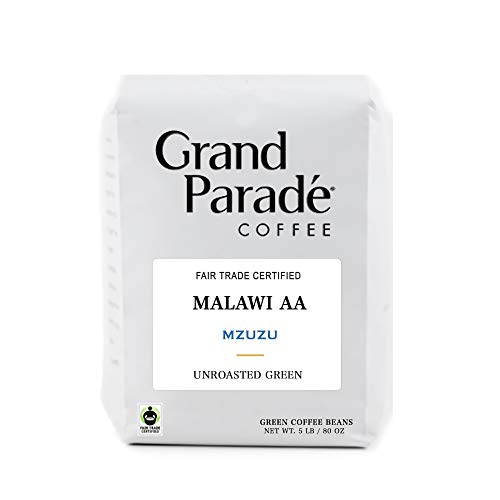 5 LB Unroasted Green Coffee Beans, Malawi AA Mzuzu Single Origin - High Altitude Specialty Arabica Bourbon - Fresh Crop