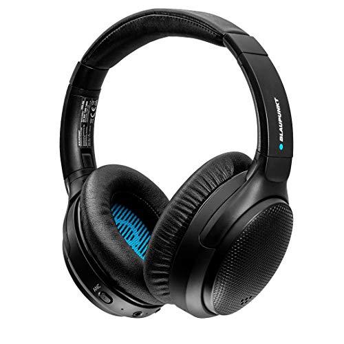 BLAUPUNKT Active Noise Cancelling Bluetooth 5.0 Kopfhörer HPB 200 – Over Ear Kopfhörer faltbar mit USB-C Anschluss, 26 Std. Laufzeit & integriertem Mikrofon Freisprechen für Smartphone & PC