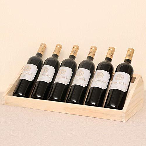 MILECN Holz Weinregal Flaschenhalter, freistehende Weinregal Regal Montage erforderlich, für Home Decor Bar Weinkeller Keller Schrank Speisekammer
