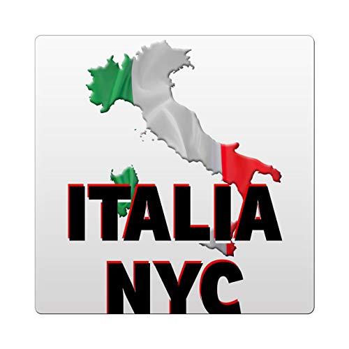 Makoroni - Italia NYC Italy Italian Des#3 Ceramic Tile Trivet 6x6 inc