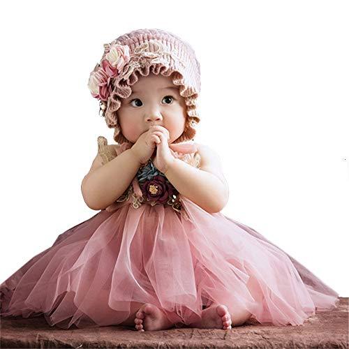 Chlyuan-bb Fotografía de Vestuario Vestido de tutú Vestido de tutú de Trajes de Traje de bebé recién Nacido de Las niñas bebés Bebé recién Nacido Shoot Atrezzo Trajes (Color : Rosado, tamaño : S)