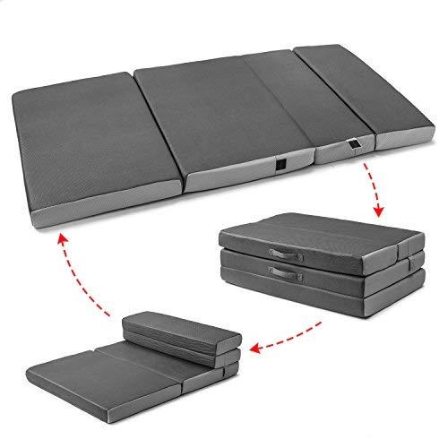 Cozzzi Folding Mattress - Twin Size Trifold Foam Mattress Topper with...