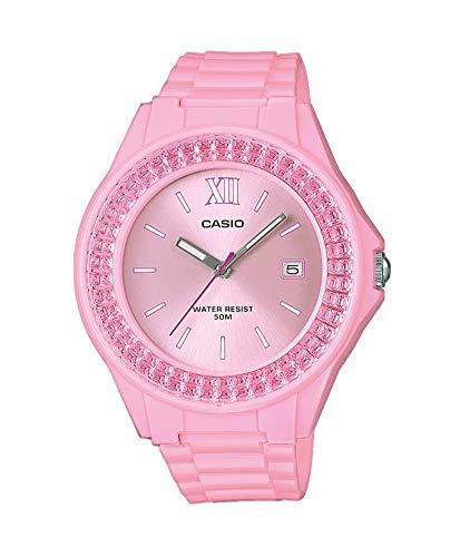 Casio Reloj Analógico para Mujer de Cuarzo con Correa en Acero Inoxidable LX-500H-4E2VEF