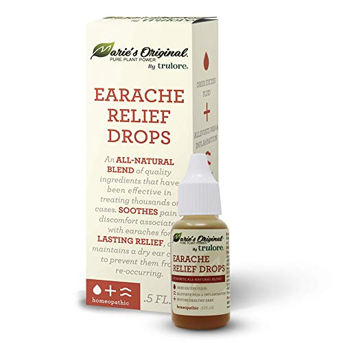 Natural Earache Drops for Ear Infection Prevention, Pain Relief, Swimmer's Ear - Homeopathic, Holistic, Vegan Herbal Ear drops for Adults, Children - Made in USA, Healthy, Safe for Kids