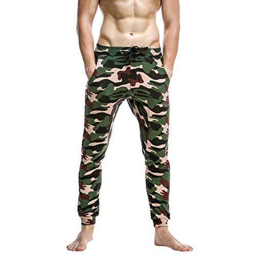 Deelin heren sportbroek, fitness, camouflage, bedrukt, potlood-broek, trekkoord, jogger, lange broek, elastisch, slim fit casual