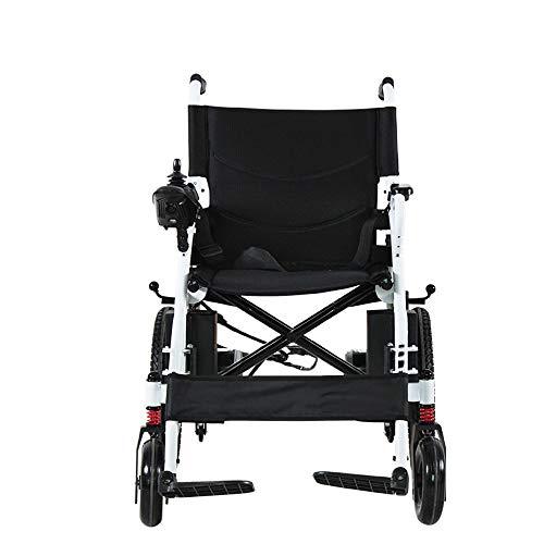 Ultralight Transport Rolstoel Elektrische rolstoelen Folding Lightweight Small Ouderen met een lichamelijke intelligente automatische vierwielig Scooter lithium batterij kan in het vliegtuig