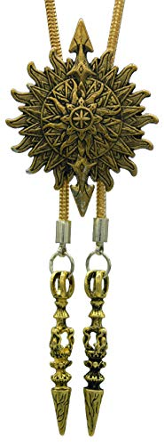 Bolo Tie with Sun And Cross Celtic Religion Style Soft and Metal copper Rope (Copper)
