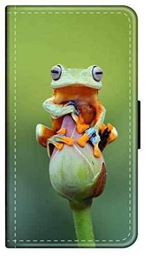 Flip Hülle Tiere Dschungel kompatibel für iPhone 8 Frosch Blume Handy Hülle Leder Tasche Klapphülle Brieftasche Etui r& um Schutz Wallet M13