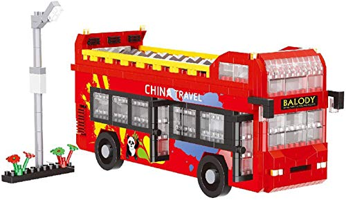 Doble Bus Mini Diamond Blocks Bloques De Construcción Juguetes Educativos Regalos De Cumpleaños (1270Pcs)