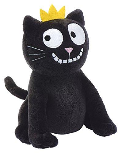 Moses deurstopper Ed, The Cat | deurhouder van pluche met kattenmotief | ook te gebruiken als boekensteun, polyester, zwart, één maat