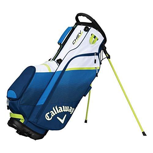 Callaway Golf 2018 Chev Stand Bag, Navy/ Blue/ Neon Green
