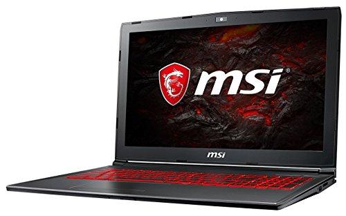MSI GV62 7RE-1625DE (39,6 cm/15,6 Zoll) Gaming-Laptop (Intel Core i7-7700HQ, 16GB RAM, 128 GB SSD + 1 TB HDD, Nvidia GeForce GTX 1050Ti, Windows 10 Home) schwarz