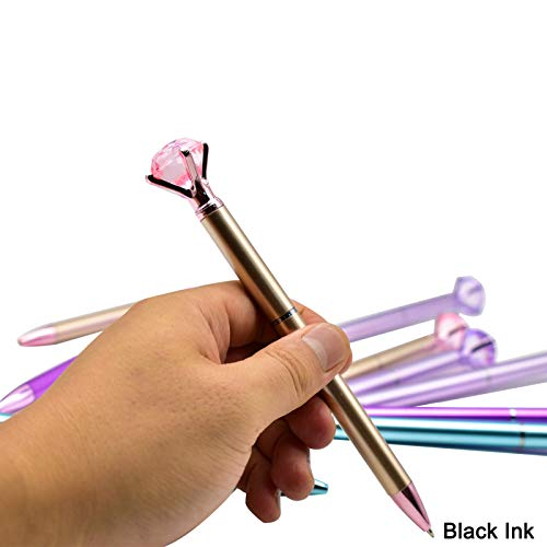 Maydahui 24PCS Diamond Ballpoint Pen Black Ink Retractable Crystal Jewel Pens Bling Metal Design for Girls Women Party Valentine's Day Photo #4