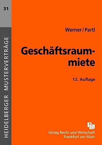 Geschäftsraummiete (Heidelberger Musterverträge)