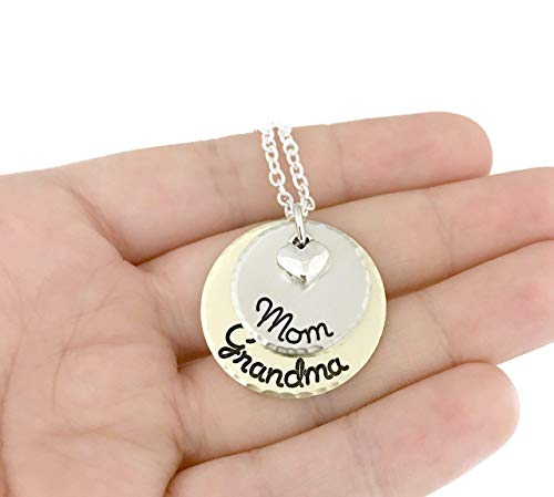 Mom - Grandma Necklace - Perfect Gift For Grandma - Hand Stamped Jewelry - Personalized Jewelry